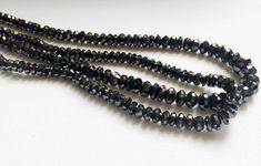 15 Pcs Black Sparkling Diamonds Black Faceted by gemsforjewels
