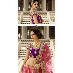 Pink & Purple Art Silk / Net Lehenga Choli