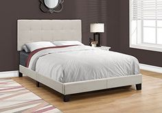 Monarch Specialties I 5921F Bed Size Linen, Full, Beige