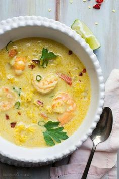 Thai Curry Shrimp Soup