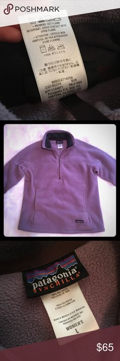 💜Patagonia Fleece Sweater Like New Dusty Purple Synchilla Patagonia Sweater, Women's Large, Measurements are included in the photos! Patagonia Sweaters
