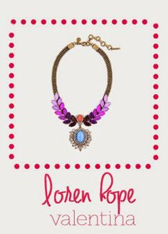 Loren Hope Valentina Necklace #ombre #radiantorchid #statementnecklace