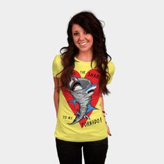 Shark To My Tornado womens shirt http://geek.ragebear.com/aqch3