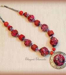 Elegant Elements - Hot selling!!! chic and dainty pink stone necklace