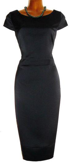 Stunning EMPORIO ARMANI Dark Navy Stretch Wiggle Pencil Dress 42 UK 10 US 6