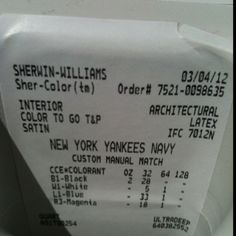 Ny Yankees Sherwin Williams Paint Color Palette Misc
