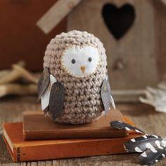 Crochet a toy owl. Free pattern. Gorgeous!
