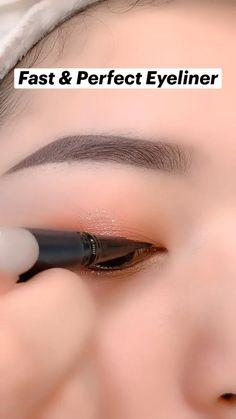 Simple Eyeliner, Perfect Eyeliner, Best Eyeliner, Eyeliner Looks, Simple Eye Makeup, Simple Eyeshadow Looks, Eyeliner Ideas, Winged Eyeliner, Eyeshadow Tutorial Natural