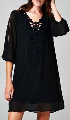 Comfortable black dress to wear to a wedding, a party, etc...