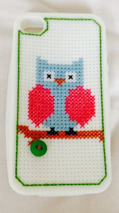 Cross-stitched iPhone case