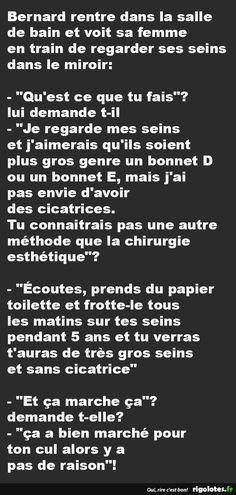 Bernard rentre dans la salle de bain... - RIGOLOTES.fr