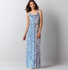 Loft - LOFT New Arrivals - Maze Stripe Racerbank Maxi Dress- One of my favorite dresses because it is easy, effortless, and looks amazing on everyone I've seen wear it. #LOFT  #ChenalShopping