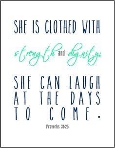 Proverbs 31 woman typography print by JenniferDareDesigns, $8.00