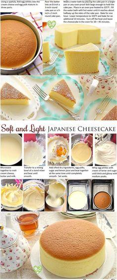Soft and Light as Air Japanese Cheesecake Dessert Recipes - dessert, food, recipes