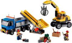 LEGO CITY - GRAAFMACHINE EN TRUCK 60075 Een doodgewone werkdag staat te beginnen. De leukste LEGO koop je bij https://www.olgo.nl/lego/city.html