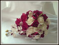 Roses and orchids bouquet. Interesting