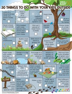 30 Things To Do With Your Kids Outside