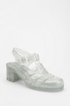 I actually wore a pair of clear, glitterry heels to a high school dance and thought I was da bomb!
