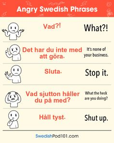 Angry Swedish phrases #swedish language