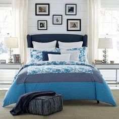 Shop for Tommy Hilfiger Camden Blue Floral Cotton Duvet Cover Set. Get free shipping at Overstock.com - Your Online Fashion Bedding Outlet Store! Get 5% in rewards with Club O! - 21213870