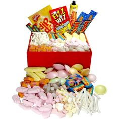 Retro Sweets Gift Jars And Hers - Old Fashioned Sweets Gifts Sweet Hampers, Gift Hampers, Uk Parties, Themed Parties, 80s Sweets, Retro Sweet Shop, Old Fashioned Sweets, Hamper Boxes, Jar Gifts
