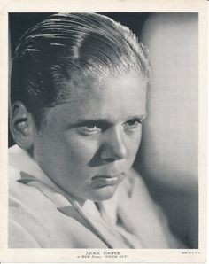 Jackie Cooper Black and White Publicity Photo 1936 MGM | Etsy