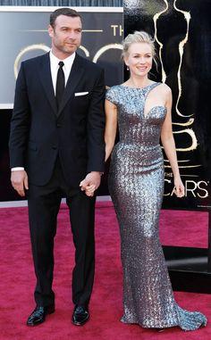 Naomi Watts & Liev Schrieber from 2013 Oscars: Arrivals   E! Online