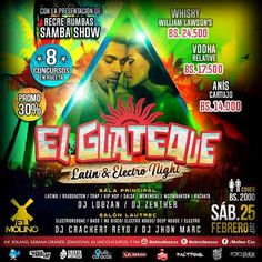 """El Molino presentan: """"El Guateque – Latin & Electro Night"""" http://crestametalica.com/evento/el-molino-presentan-el-guateque-latin-electro-night/ vía @crestametalica"""
