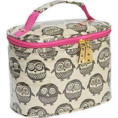 Owl make-up bag. If only it were a train case Crazy Owl, Owl Kitchen, Owl Purse, Owl Bags, Diy Sac, Beautiful Owl, Owl Crafts, Night Owl, Cute Owl