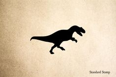 Raptor Running Rubber Stamp