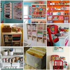 So organized - perfect ideas for a crafty room... Which I happen to have and it is total chaos currently.