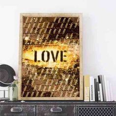 poster gold love