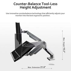 """Dual Horizontal LCD Desktop Monitor Desk Base Stand Height Adjustable Up to 24/"""""""