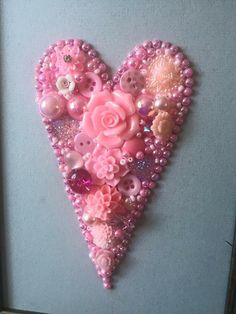 Pink love button art heart