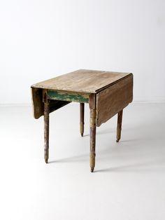 primitive drop leaf kitchen table