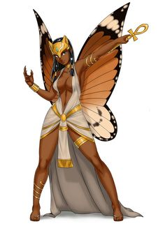 Commission for jkrolak Character Nefeytiti by jkrolakArt and costume design by luigiix Fairy priestess of Bast Sexy Black Art, Black Love Art, Black Girl Art, African American Art, African Art, Arte Black, Black Fairy, Black Anime Characters, Black Art Pictures