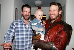 Following the defeat of the Seattle Seahawks in the Super Bowl on Sunday,Chris Pratt (a.k.a. Star-Lord) made good on his bet with Chris Evans by visiting Christopher's Haven children's hospital on Friday.