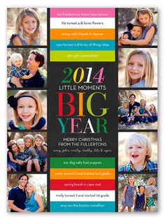 Big Colorful Year 6x8 Greeting Card | Holiday Cards | Shutterfly