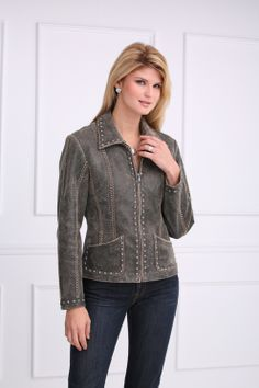 Rusty Spur Couture Cripple Creek Distressed Jacket - LL36968, ,