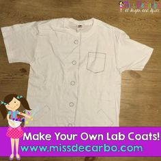 T shirt and marker scientist lab coat for career day at for Design lab create your own shirt