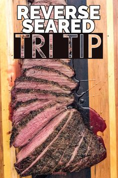 Some of the best meals I've made on my smoker have been the simple ones. This smoked tri tip recipe is certainly no exception. Traeger Recipes, Smoked Meat Recipes, Smoked Beef, Barbecue Recipes, Grilling Recipes, Beef Recipes, Tri Tip Smoker Recipes, Best Tri Tip Recipe