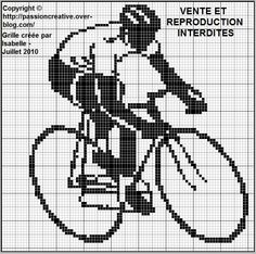 sport - vélo - point de croix - cross stitch - Blog : http://broderiemimie44.canalblog.com/