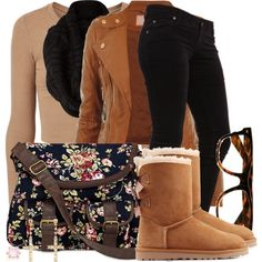 A fashion look from January 2015 featuring Dr. Denim jeans, UGG Australia boots and Charlotte Russe earrings. Browse and shop related looks.