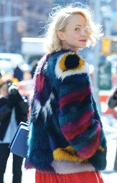 Shop The Look: Rainbow Fur