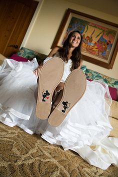 Stylish footwear to wear on your wedding day.