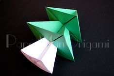 Origami Christmas Tree Passion Diy for origami Christmas . Origami Christmas Tree, Christmas Diy, Christmas Ornaments, Origami Step By Step, 3d Origami, Origami Tutorial, Sustainable Design, Diy Bedroom Decor, Snowflakes