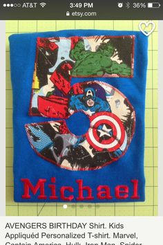 Super hero shirt with age