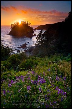 The sunset in Trinidad, Humboldt County