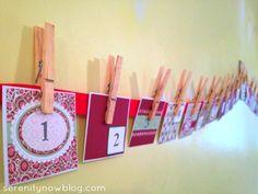 DIY Christmas Advent Calendar, Serenity Now blog