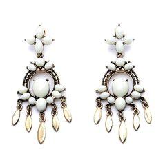 "White Chandelier Earrings Beautiful White Chandelier Earrings 🔸 Size: 1.18"" x 2.95"" 🔸 Materials: Gold Base Metals, Resin 🔸 Nickel Free, Lead Free 🔸 Condition: New Jewelry Earrings"
